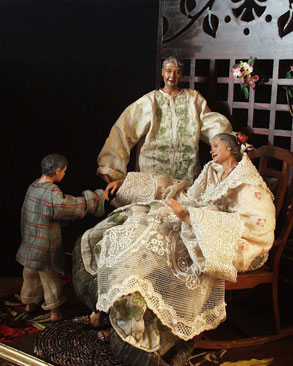 Respecting the Elders is one of the series of tableaus representing the traditions and values of the Filipino culture.