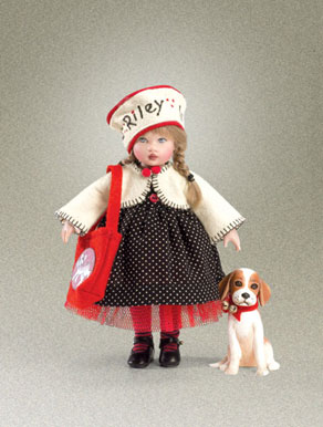 "The Riley with Jingles ""Perfect Puppy Gift Set"" sells for about $249 and is a limited edition of 450."