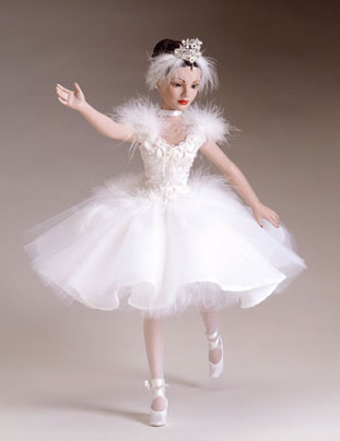 "All set to perform in the talent section of the Pageant, the Tonner dressed doll titled ""Swan Lake"" sells for $149.99 and is a limited edition of 500."