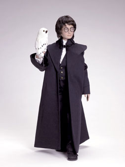"""Harry Potter at the Yule Ball"" depicts Harry in his formal ensemble for an important Hogwarts gala. Limited to 2,500, the doll sells for $150. (Hedwig the Owl is not included.)"