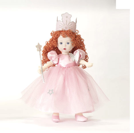 "A new cloth doll this fall, ""Glinda the Good Witch"" is 18 inches. Although Alexander's cloth creations are play dolls, they have collector value as well. ""We have cloth collectors who collect anything cloth from our vintage days until now,"" says Gale Jarvis."