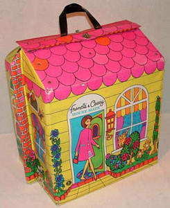 Throughout My Childhood, I Had Three Of These Folding Up Barbie Dollhouses.  Portable And Uber Groovy, They Were The Very Models Of Modernity.