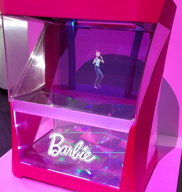 Toy Fair 2017: Hello, Hologram Dolly! Barbie wows as an AI beam of light