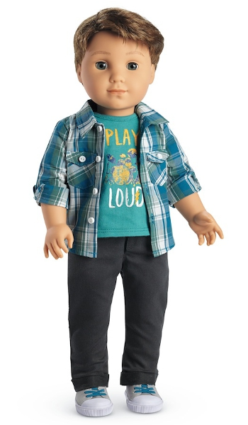 American Girl's first boy doll, Logan Everett.