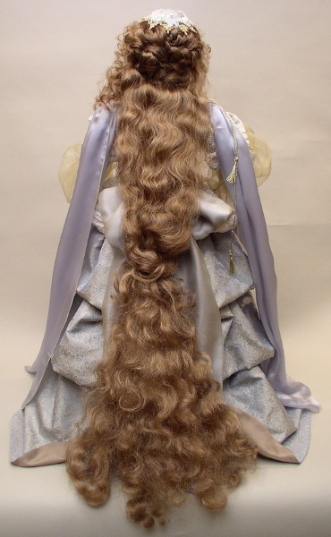 Rapunzel shows off her long, flowing hair.