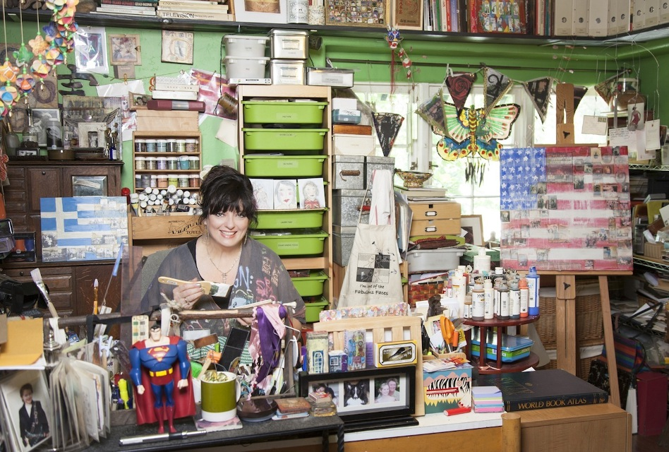 Angela Cartwright in her art studio.