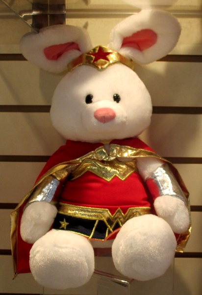 Gund's tribute to Wonder Woman is a plush bunny one.