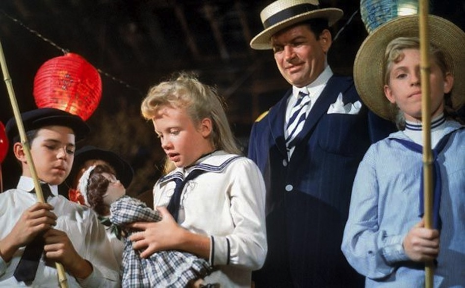 "Hayley Mills, with doll, in Disney's ""Pollyanna."""