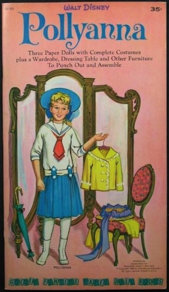 Pollyanna's paper doll book gave her a wide array of clothing and accessories.