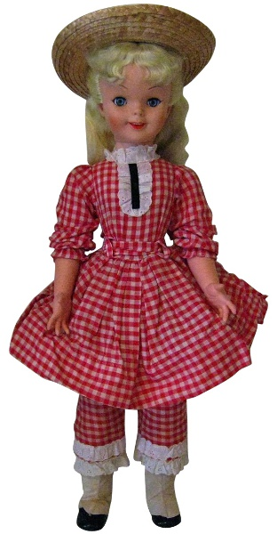 Pollyanna collectible doll made by Uneeda.