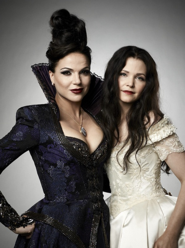 Lana Parrilla and Ginnifer Goodwin as Regina and Snow White. Courtesy of D23 Expo
