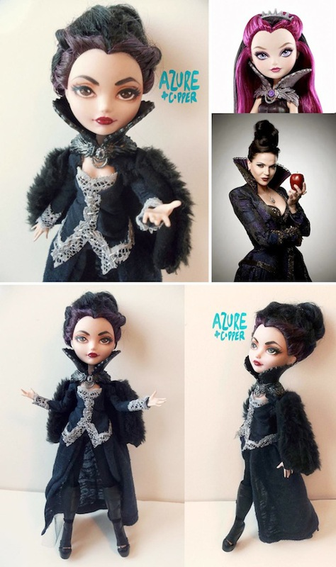 Samantha Russell, of Azure and Copper, created the Regina doll.