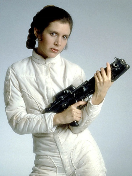 Carrie Fisher as the powerful and forceful Leia