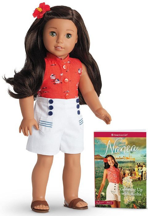 Nanea doll and one of her books