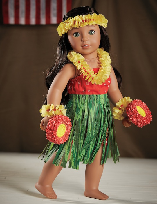 Nanea's Hawaiian hula outfit.