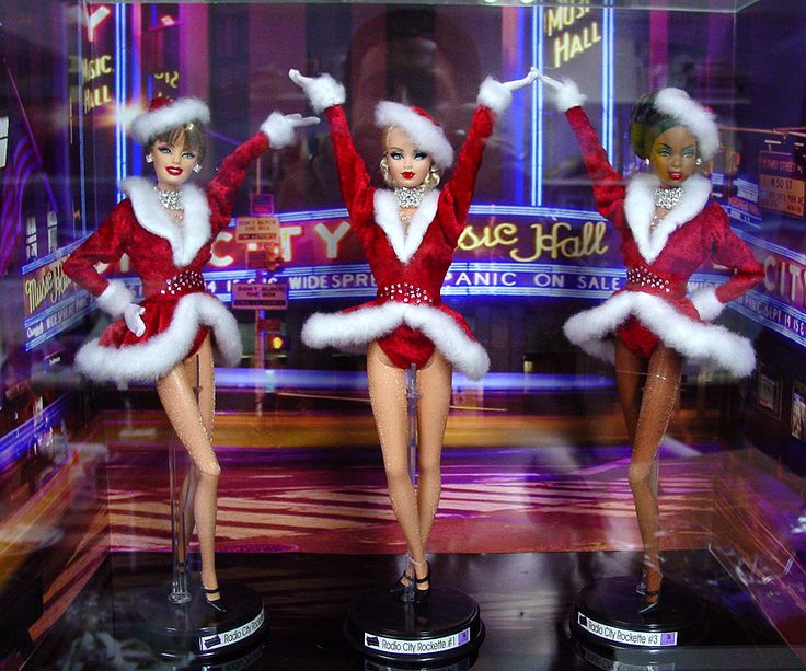 The Radio City Music Hall Rockettes, diverse dolls but not different.