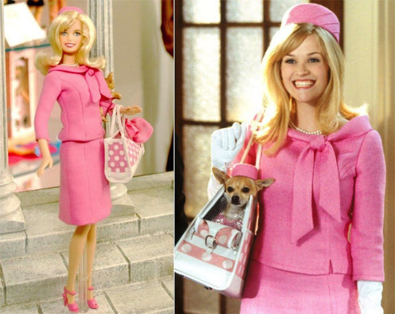 Which is Reese Witherspoon and which is her lookalike doll?