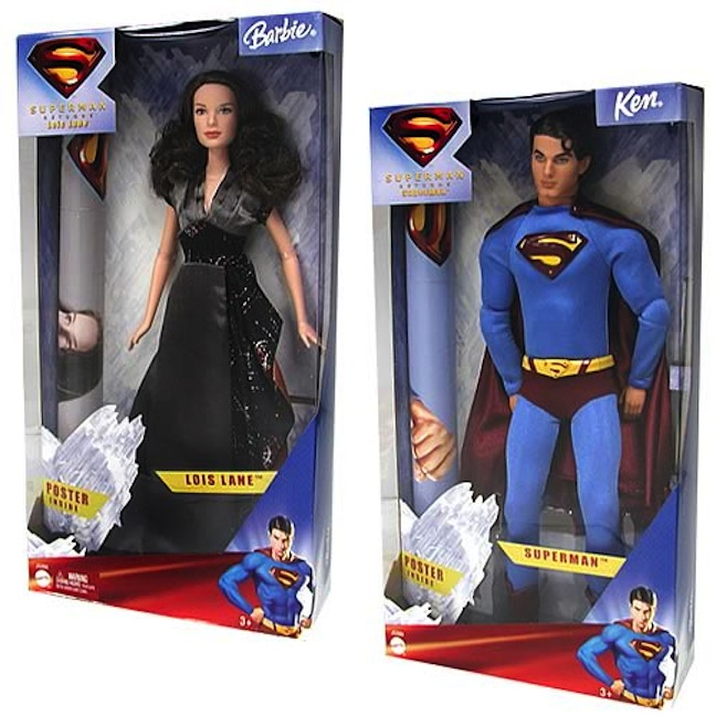 One of Mattel's many versions of Lois and Superman.