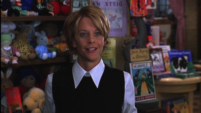 "Meg as Kathleen the Book Lady in ""You've Got Mail."" Courtesy of Movie Star News"