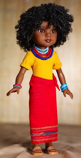 Rahel, the Hearts for Hearts doll from Ethiopia