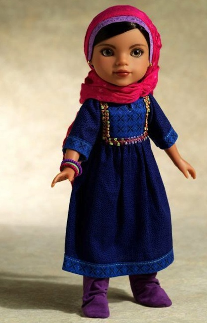 Shula, the Afghan doll, from the Hearts for Hearts debut line