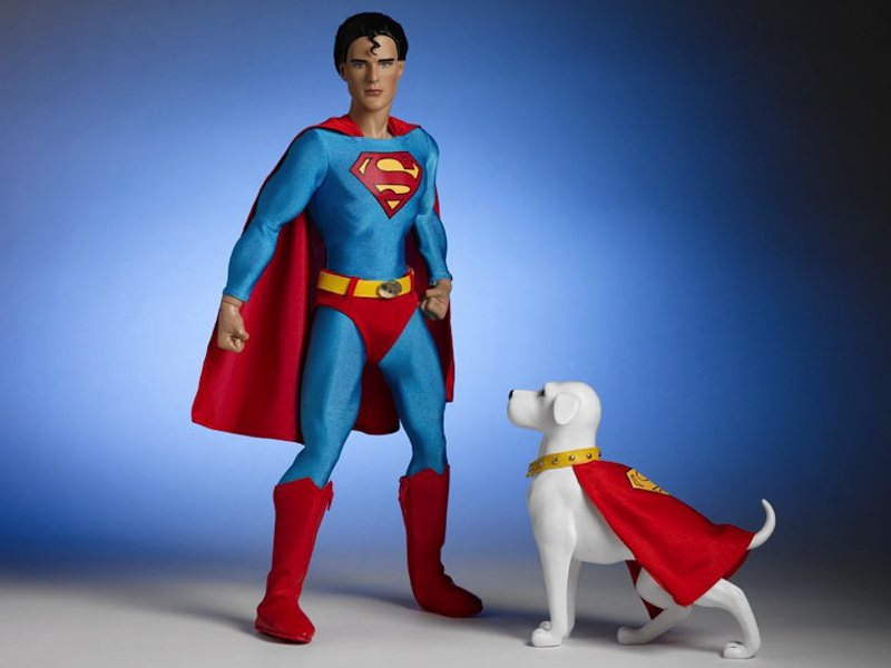 Superman and his superdog, Krypto, from Tonner Dolls.