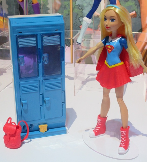 Supergirl and her X-ray–vision locker from Mattel.