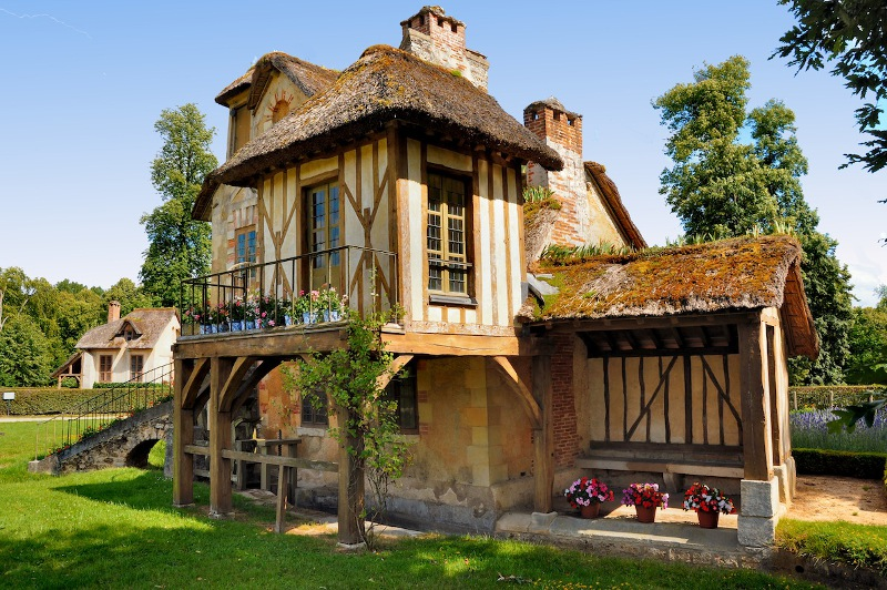 A portion of the fairy-tale village, Petit Hameau de la Reine