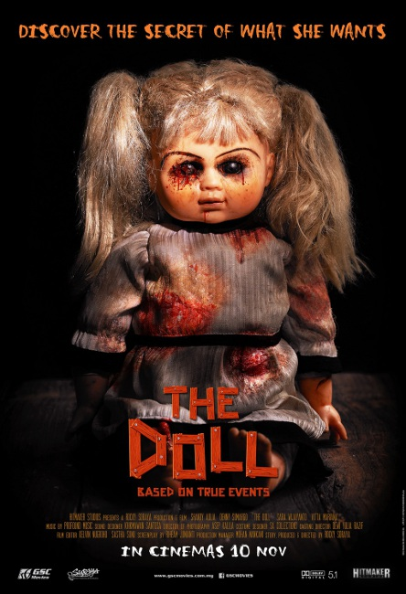 """The Doll"" advertising poster hints at hidden desires."