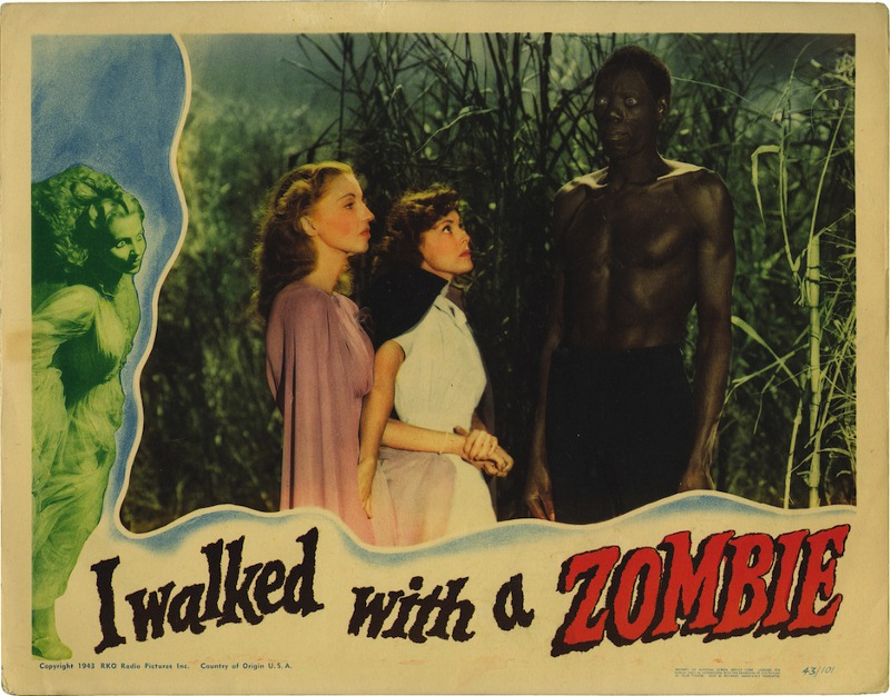 "The lobby card for Val Lewton's ""I Walked with a Zombie"""