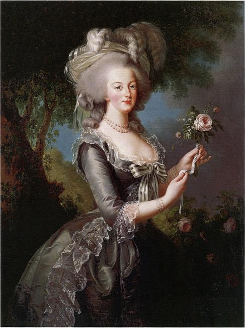 """Marie Antoinette, a la rose,"" 1785, by Vigee le Brun, Metropolitan Museum of Art"