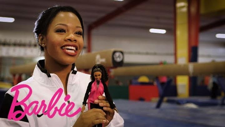 Gabby Douglas and her Shero likeness. Photo courtesy of Mattel