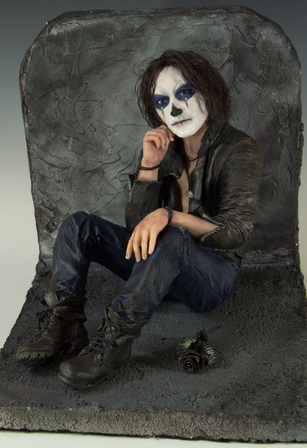 "Waiting, reminiscent of Brandon Lee in ""The Crow"""