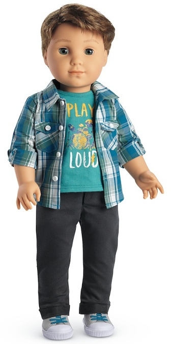 Logan is American Girl's first boy doll, a historic event.