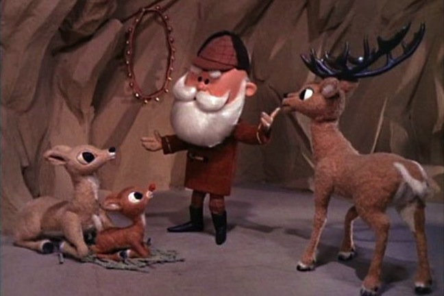 Rudolph's parents, primarily his dad, try to curry favor with Santa.