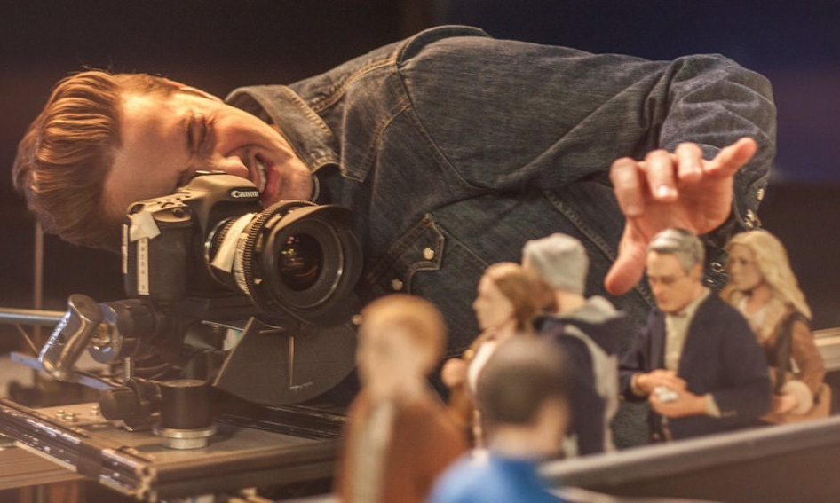 "Co-director Duke Johnson sets up a painstaking shot in ""Anomalisa."""
