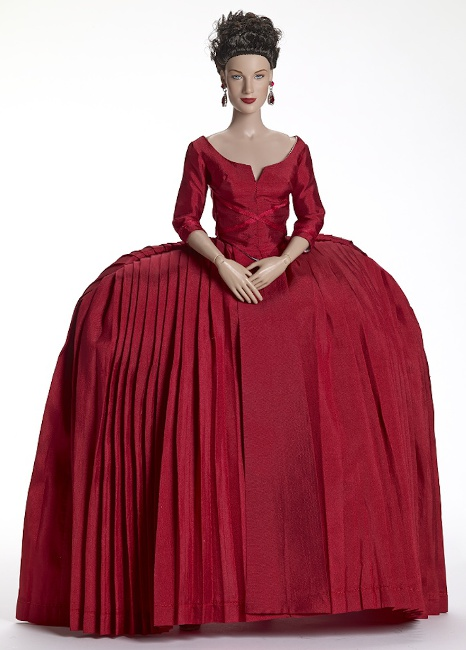 Limited to 300, Claire Fraser poses in the iconic red dress from Tonner Dolls.