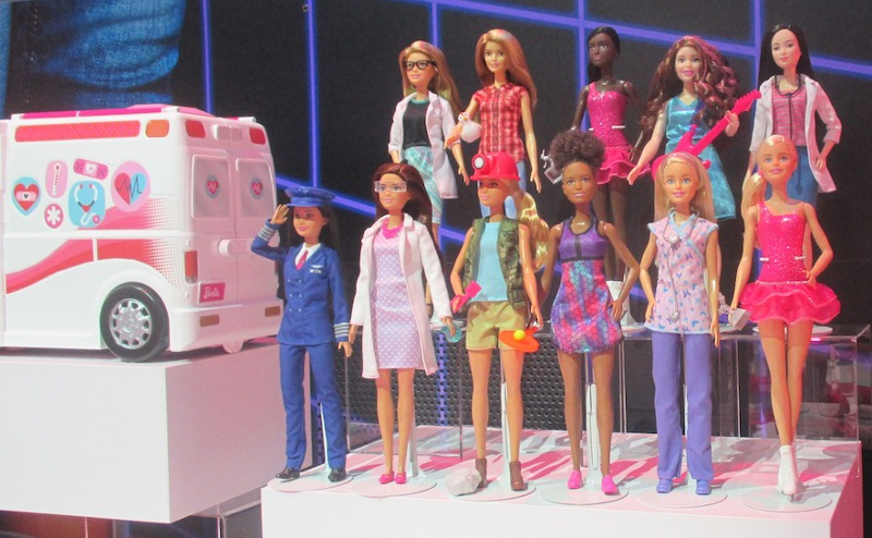 A glimpse at Barbie's different occupations at Mattel