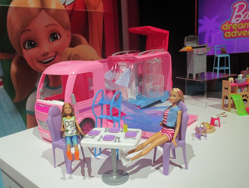 Barbie's Recreational Vehicle spells leisure time in the great outdoors.