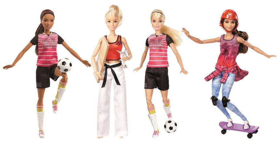 Barbie in her various sports guises