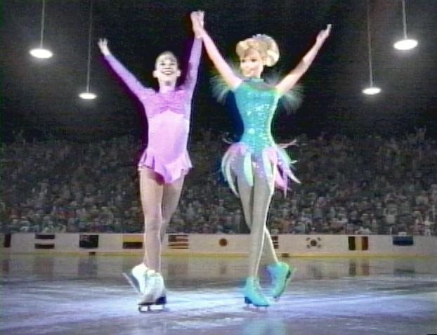 Ice Princesses: Tara Lipinski and Barbie, in 1997 Mattel ad