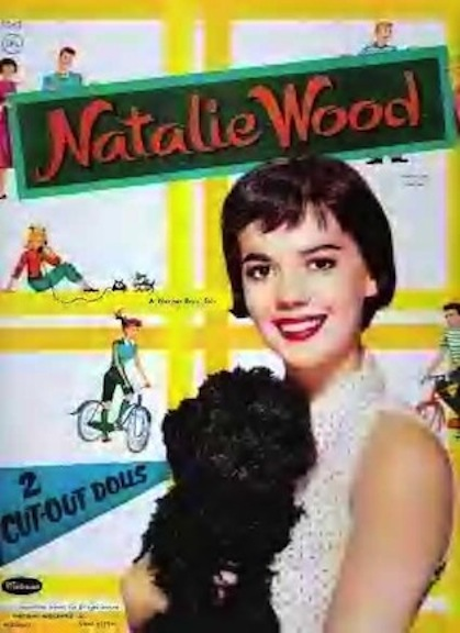 1957 Natalie Wood as paper doll