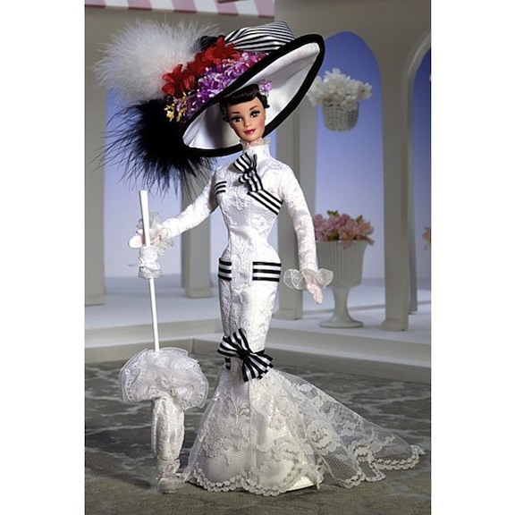 "Barbie in her ""My Fair Lady Ascot"" gown"
