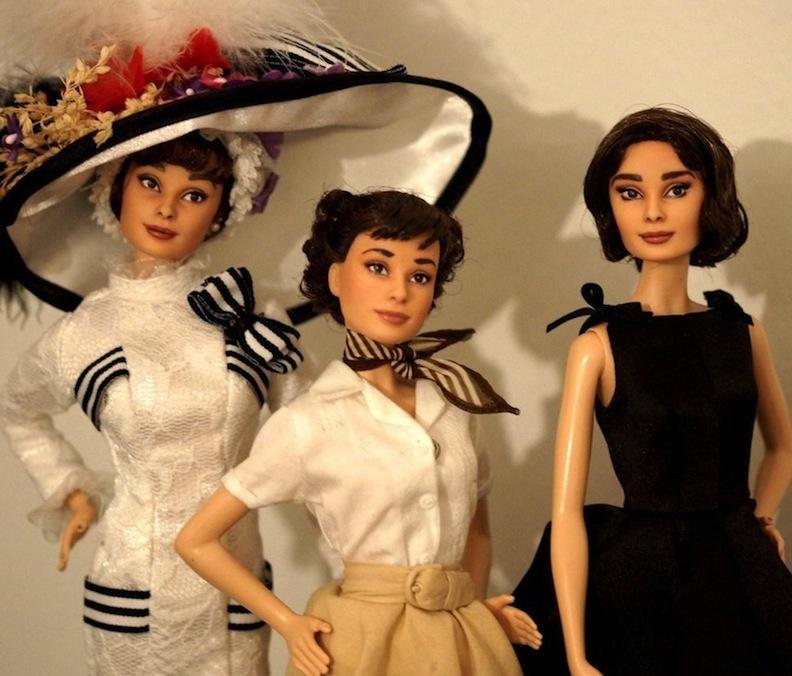 Audrey Hepburn repaint dolls by Lulemee