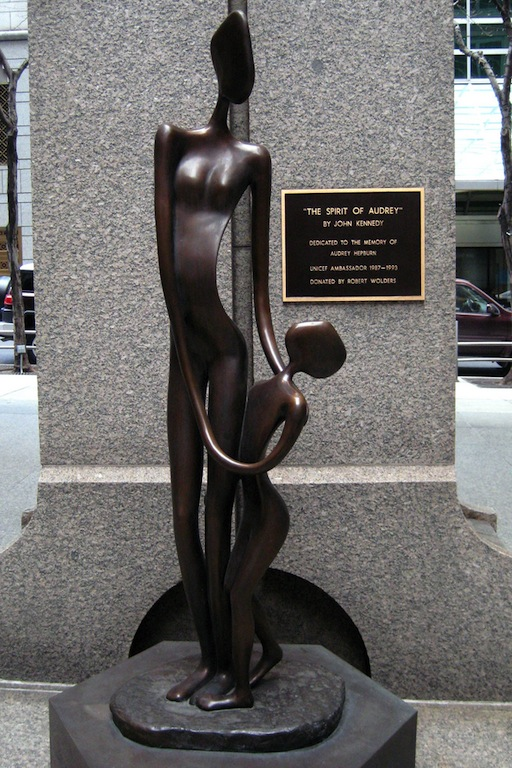 Spirit of Audrey statue at UNICEF headquarters