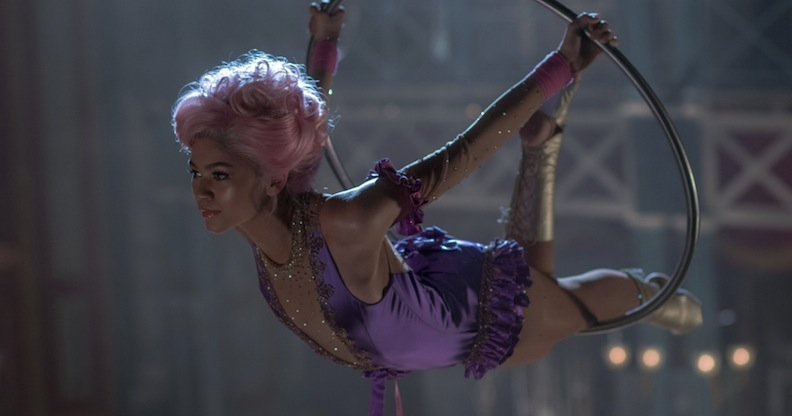 "Zendaya in a scene from ""The Greatest Showman"""