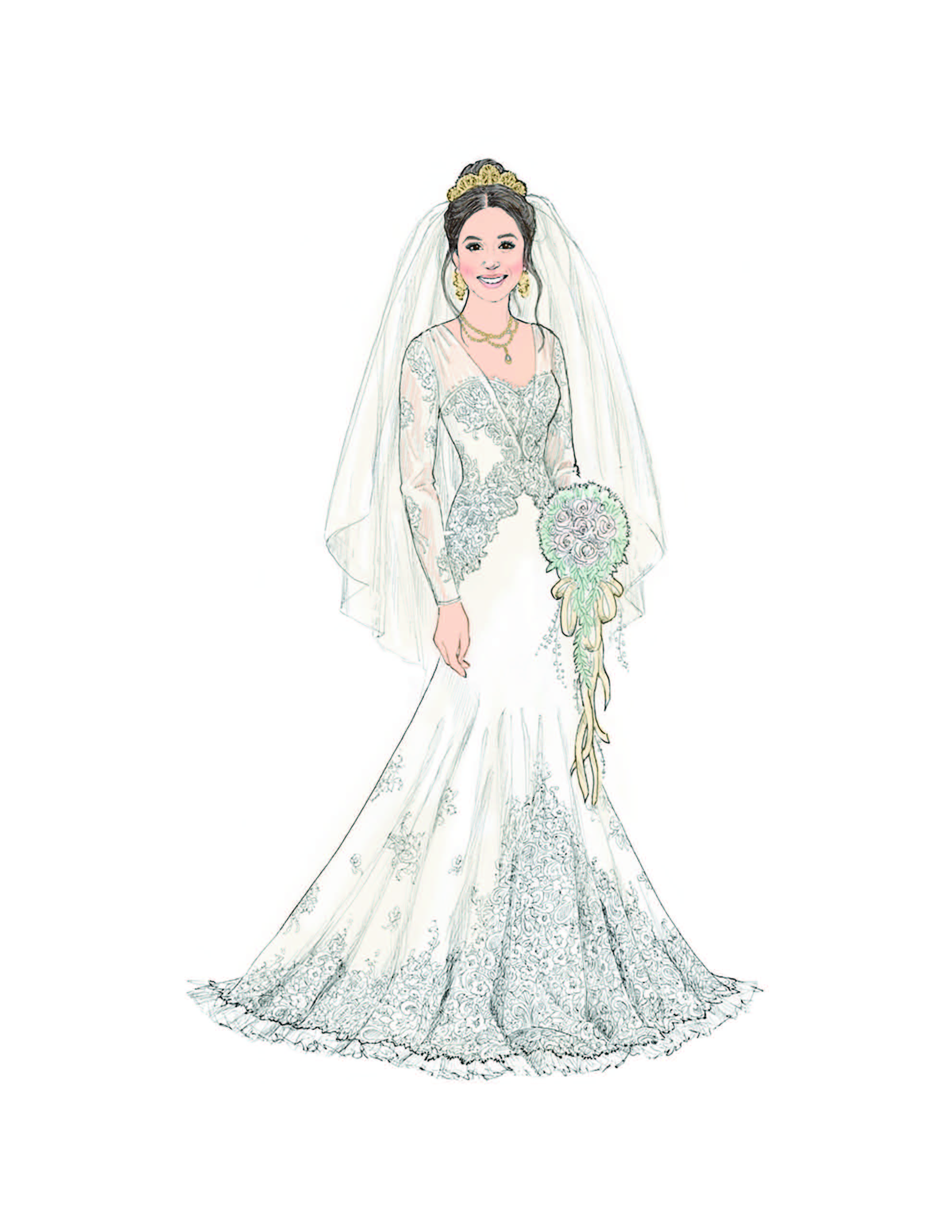 Meghan Illustration by Ashton-Drake