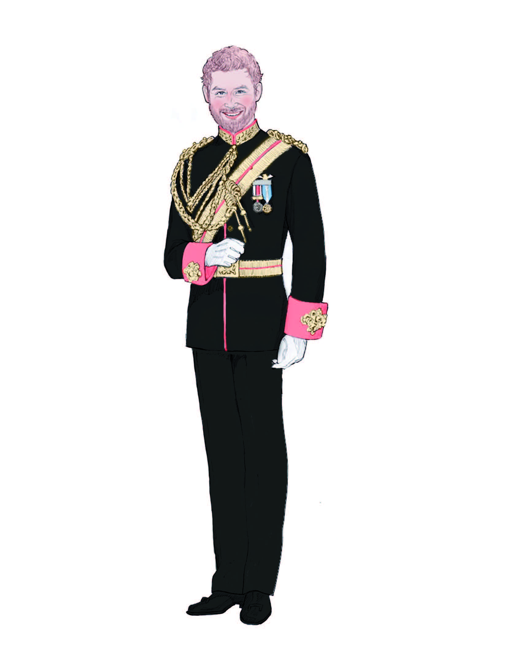 Prince Harry illustration by Ashton-Drake