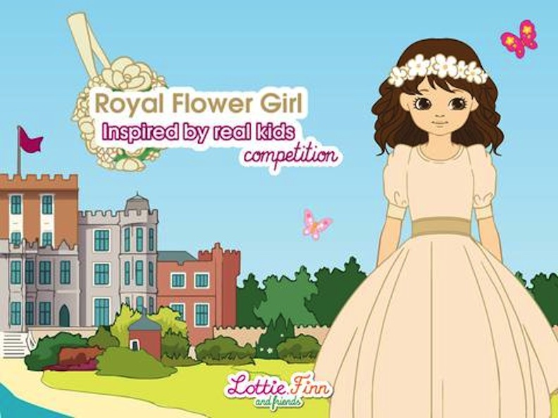 Royal Flower Girl illustration for Lottie Dolls