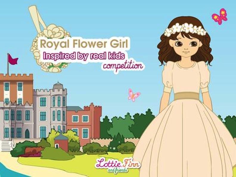 Royal Flower Girl illustration for Lottie Dolls
